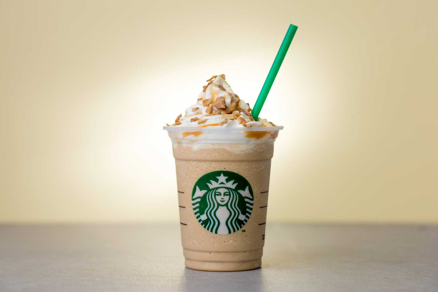 Starbucks Caramel Waffle Cone Frappuccino Blended Beverage