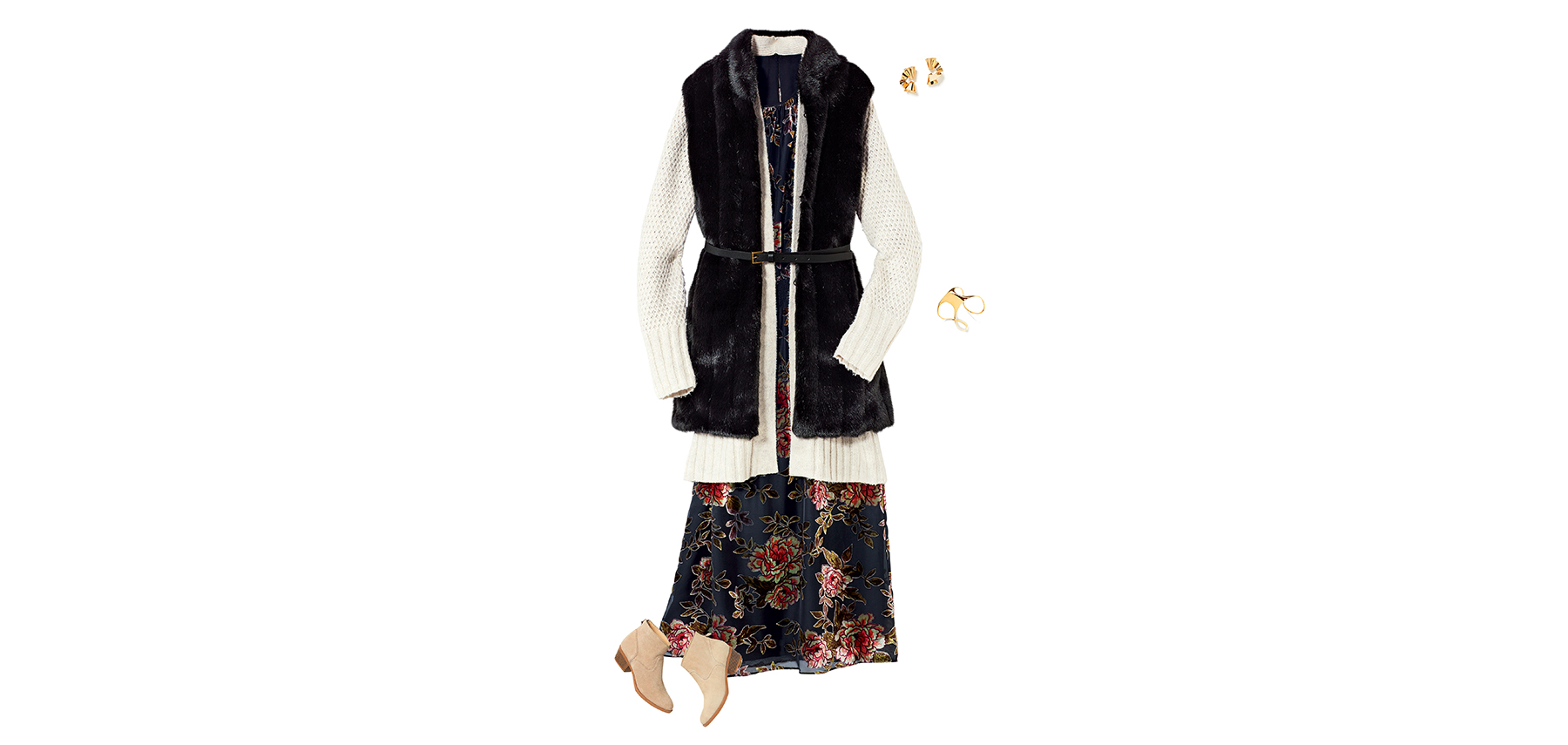 Cardigan, Dress and Vest (1018ESS)