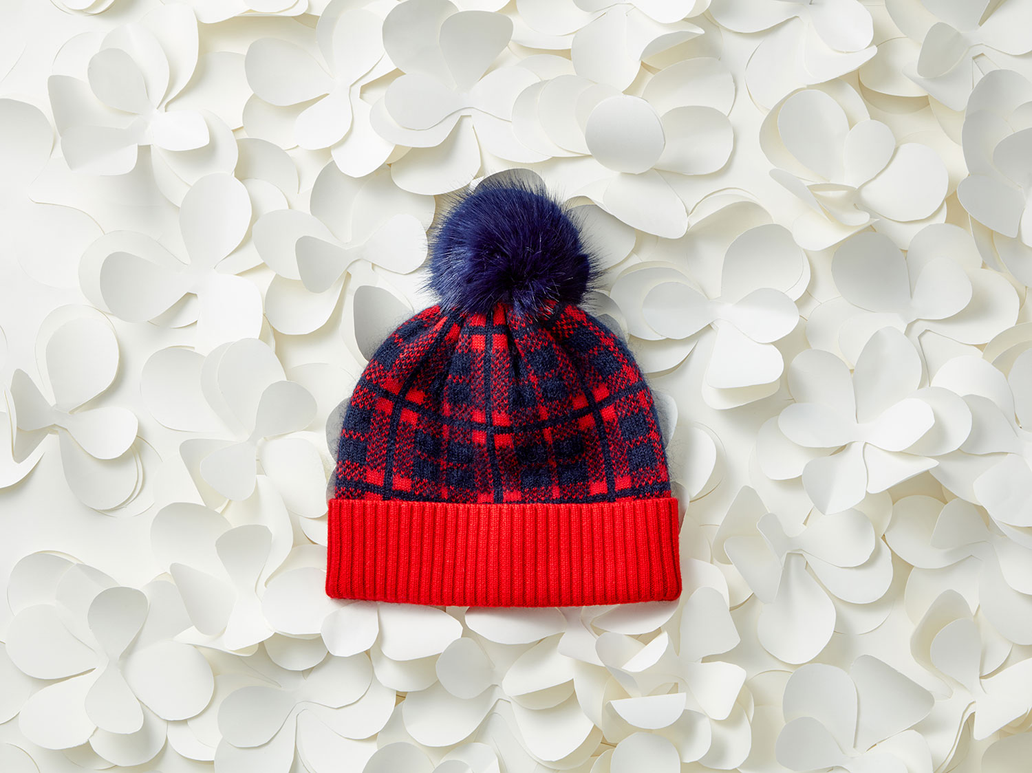 Carolina Check Pom Pom Hat