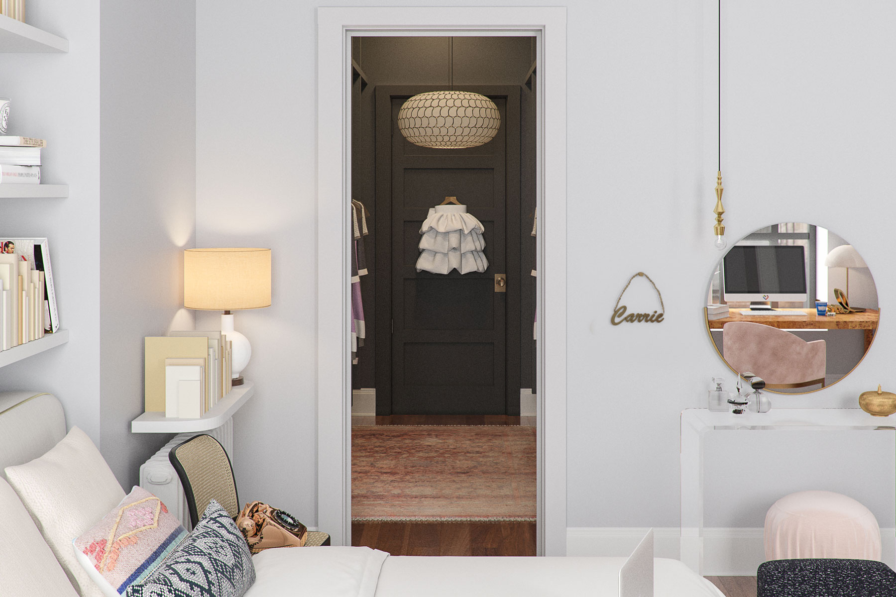 Carrie Bradshaw's Sex and the City apartment - closet