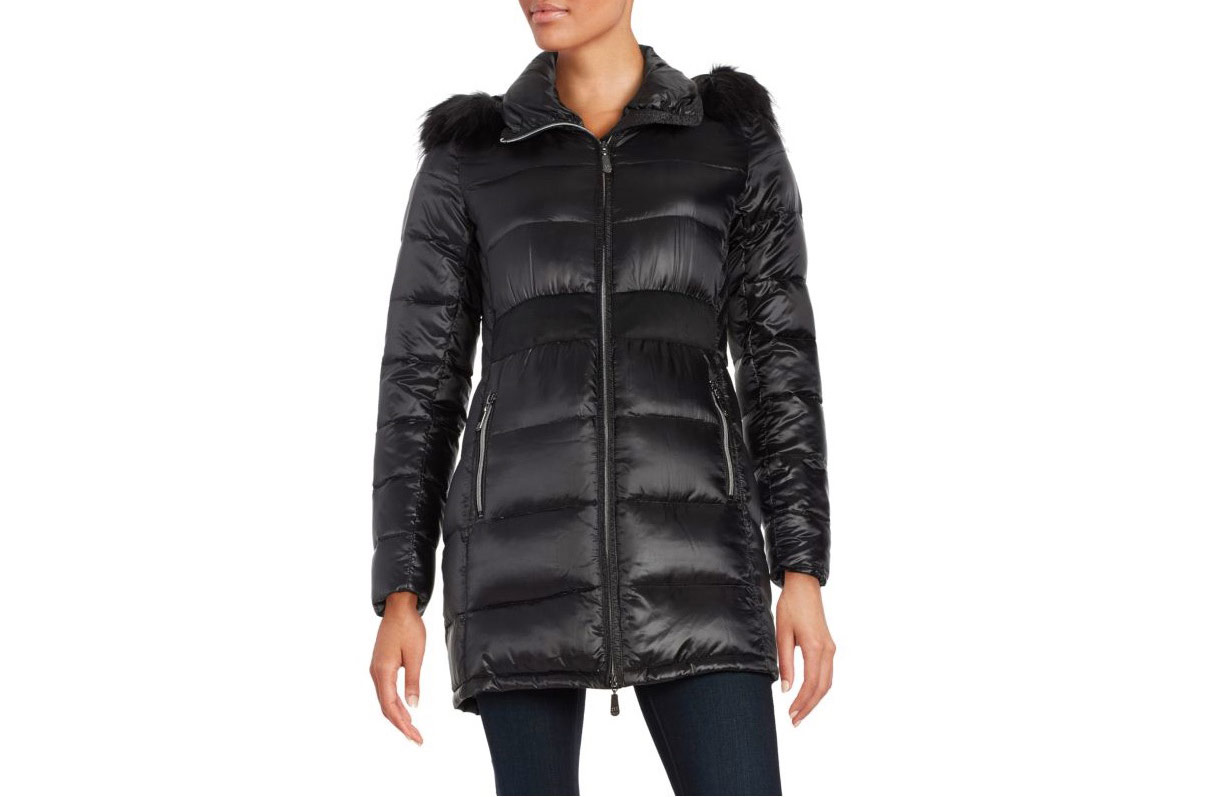 Cece Faux Fur-Trimmed Puffer Coat