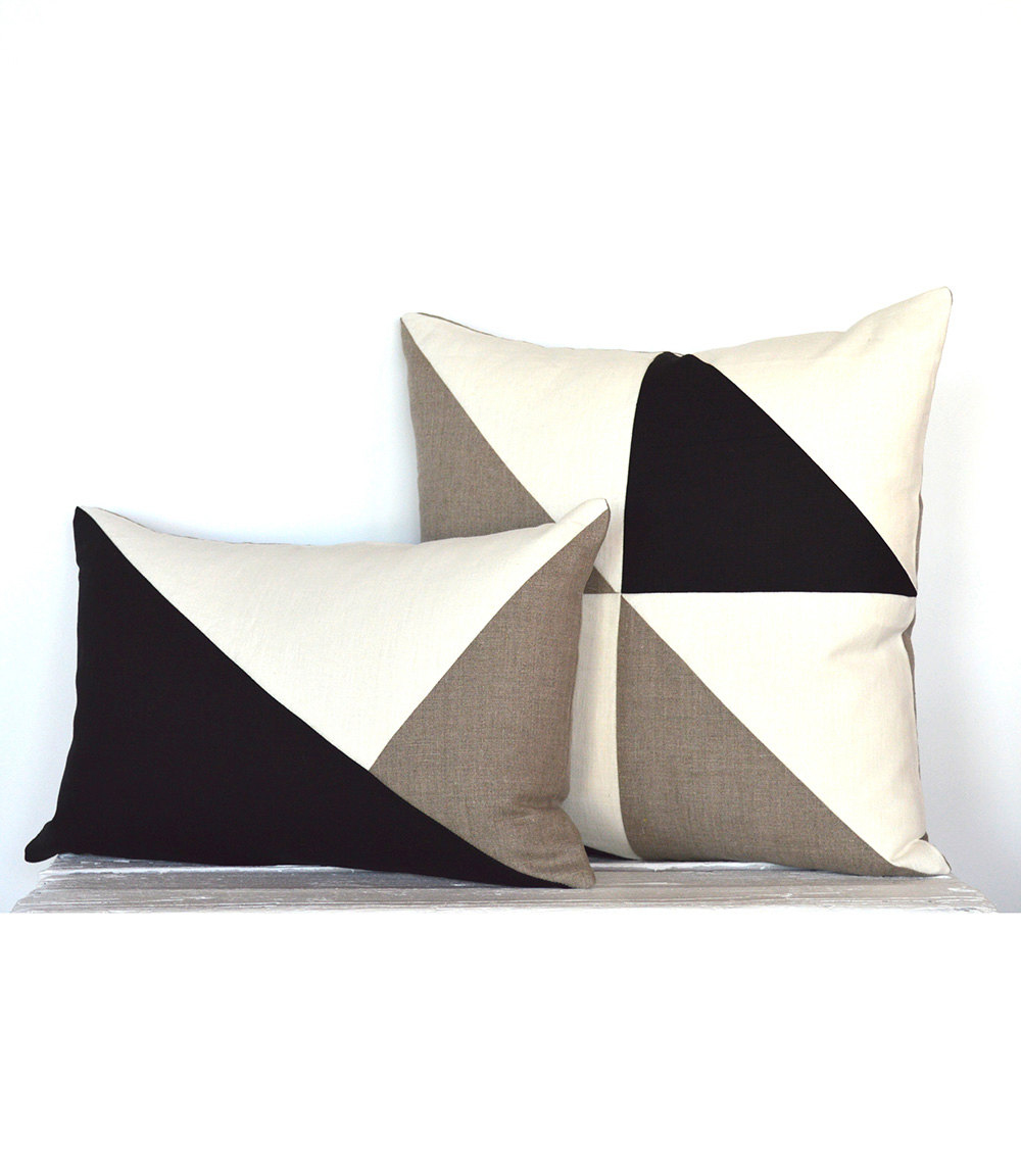 Side Envelope Modern Colorblock pillow cover