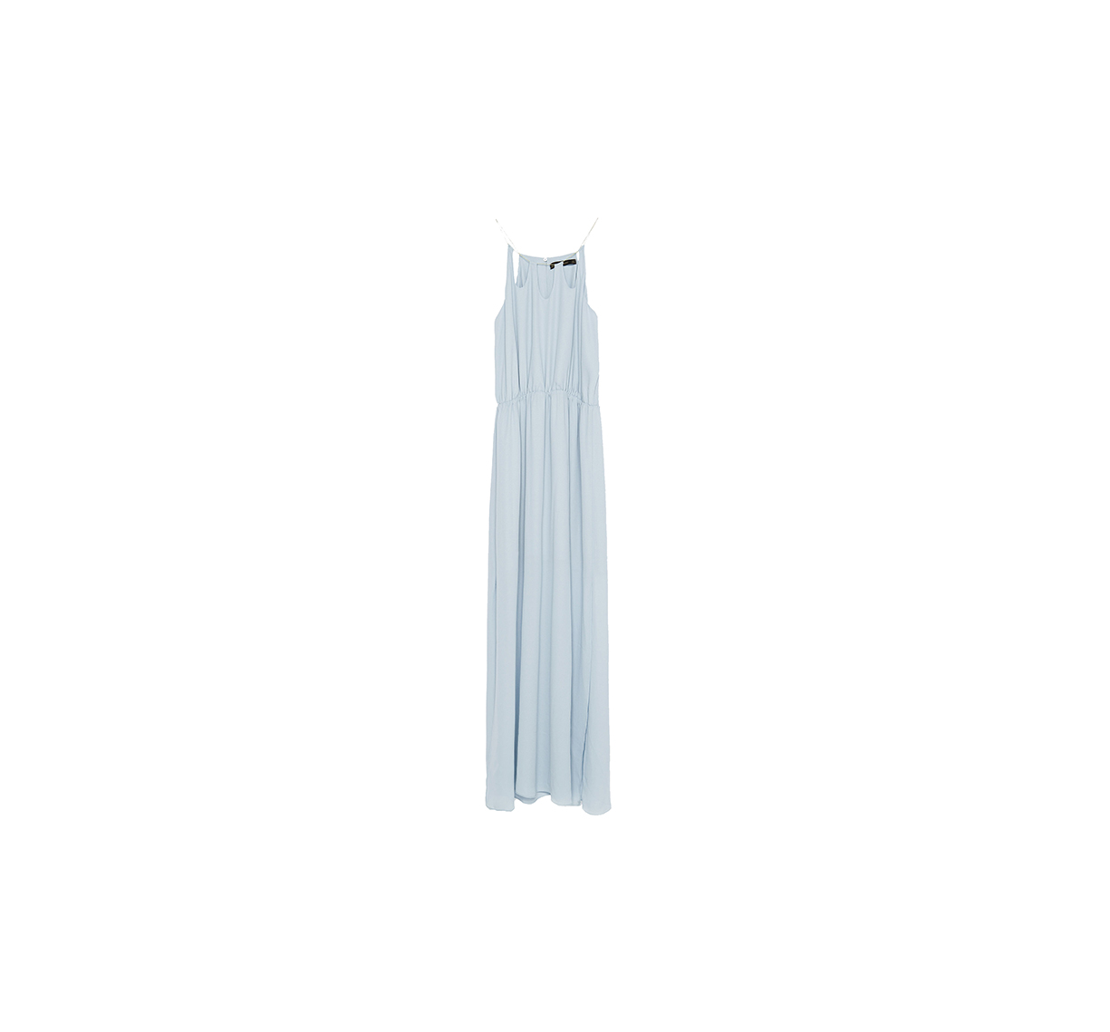 Long Dress with Chain Neckline