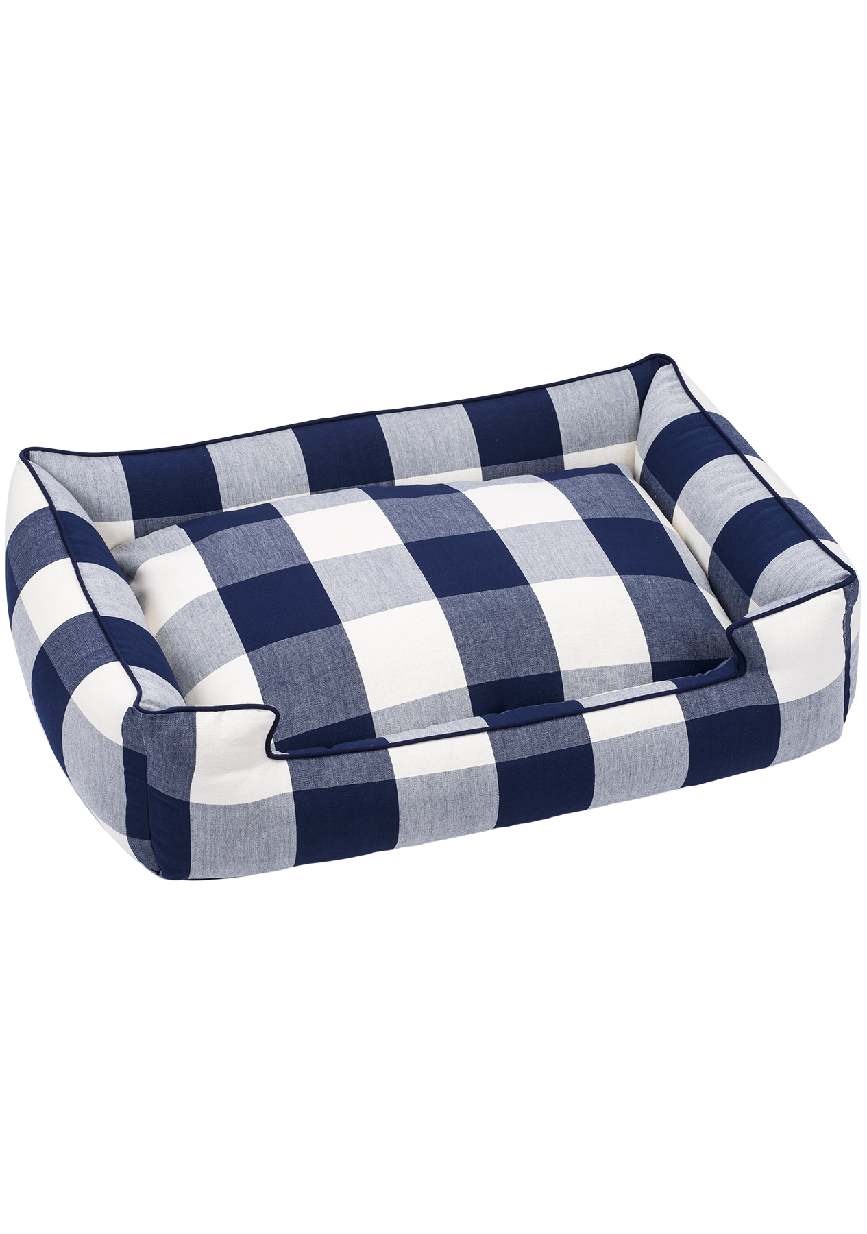 Buffalo Check Lounge Dog Bed