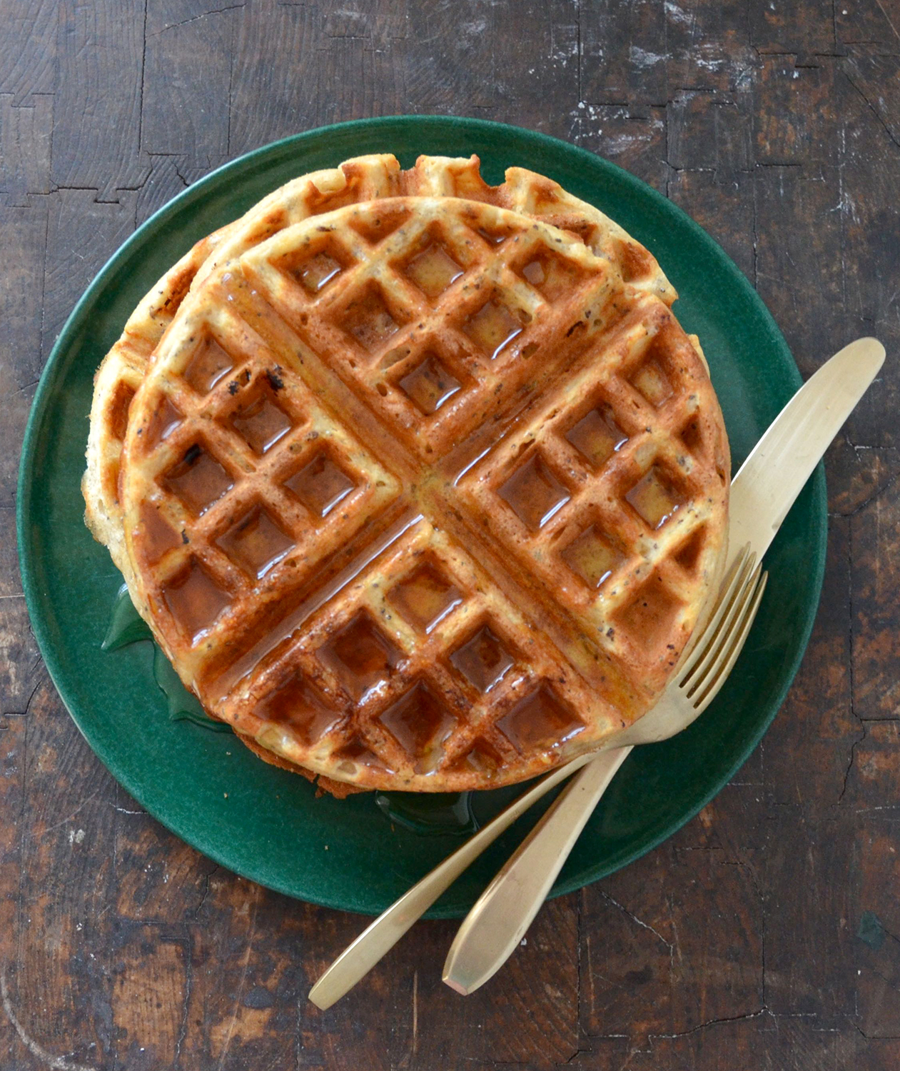 Whole Wheat Chia Seed Waffles