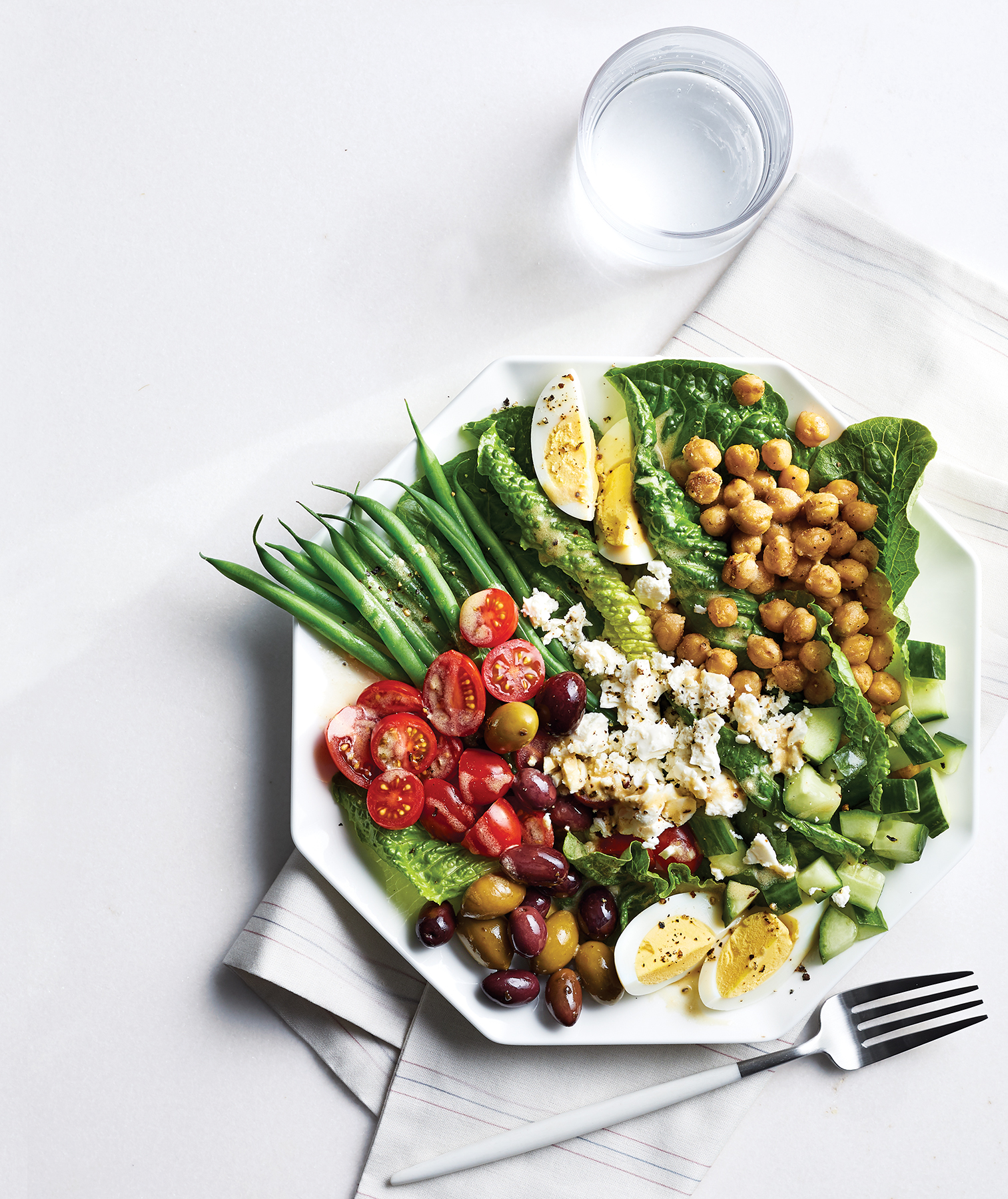 Chickpea Niçoise With Tahini Dressing