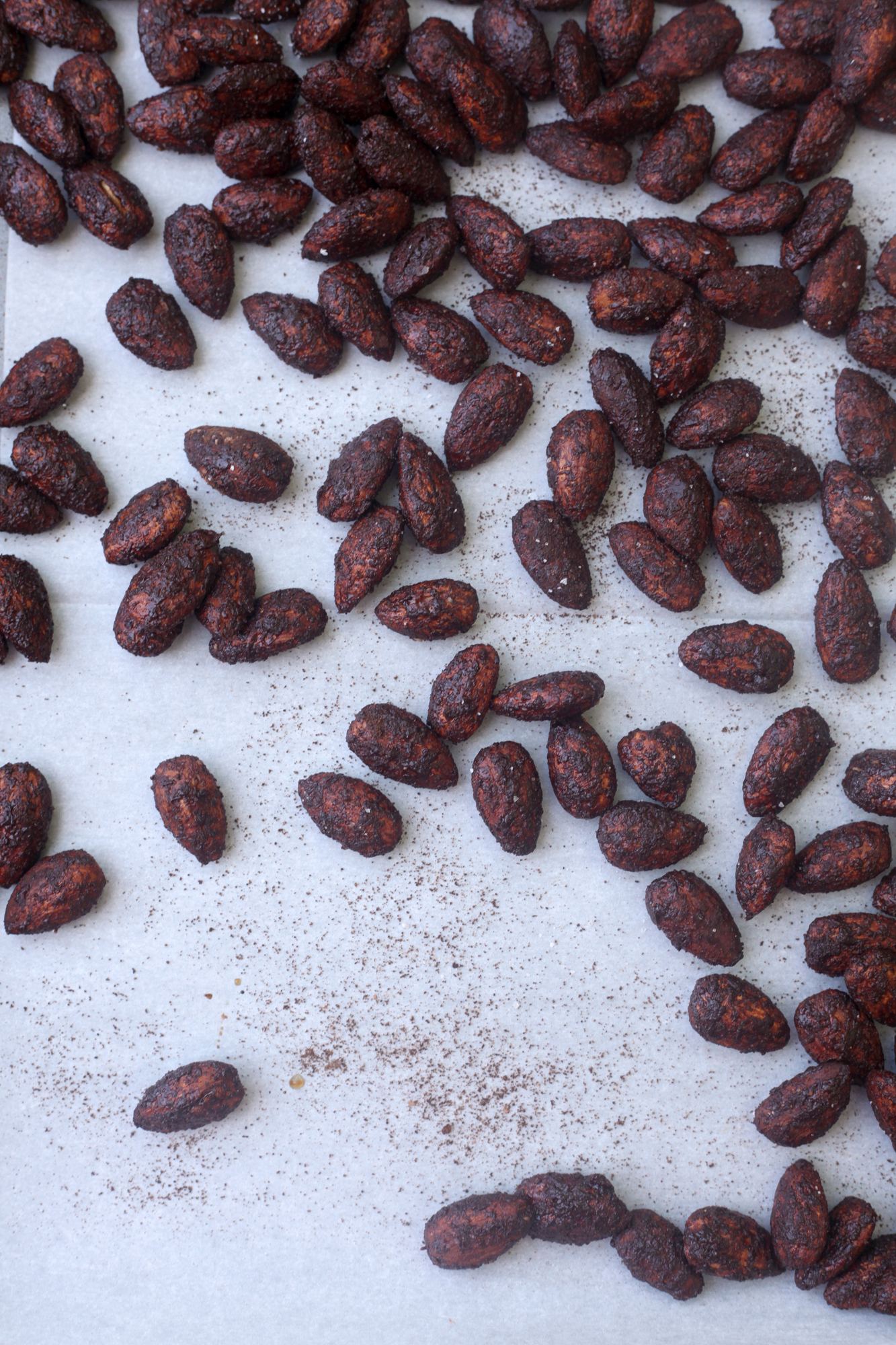 Dark Chocolate Espresso Almonds