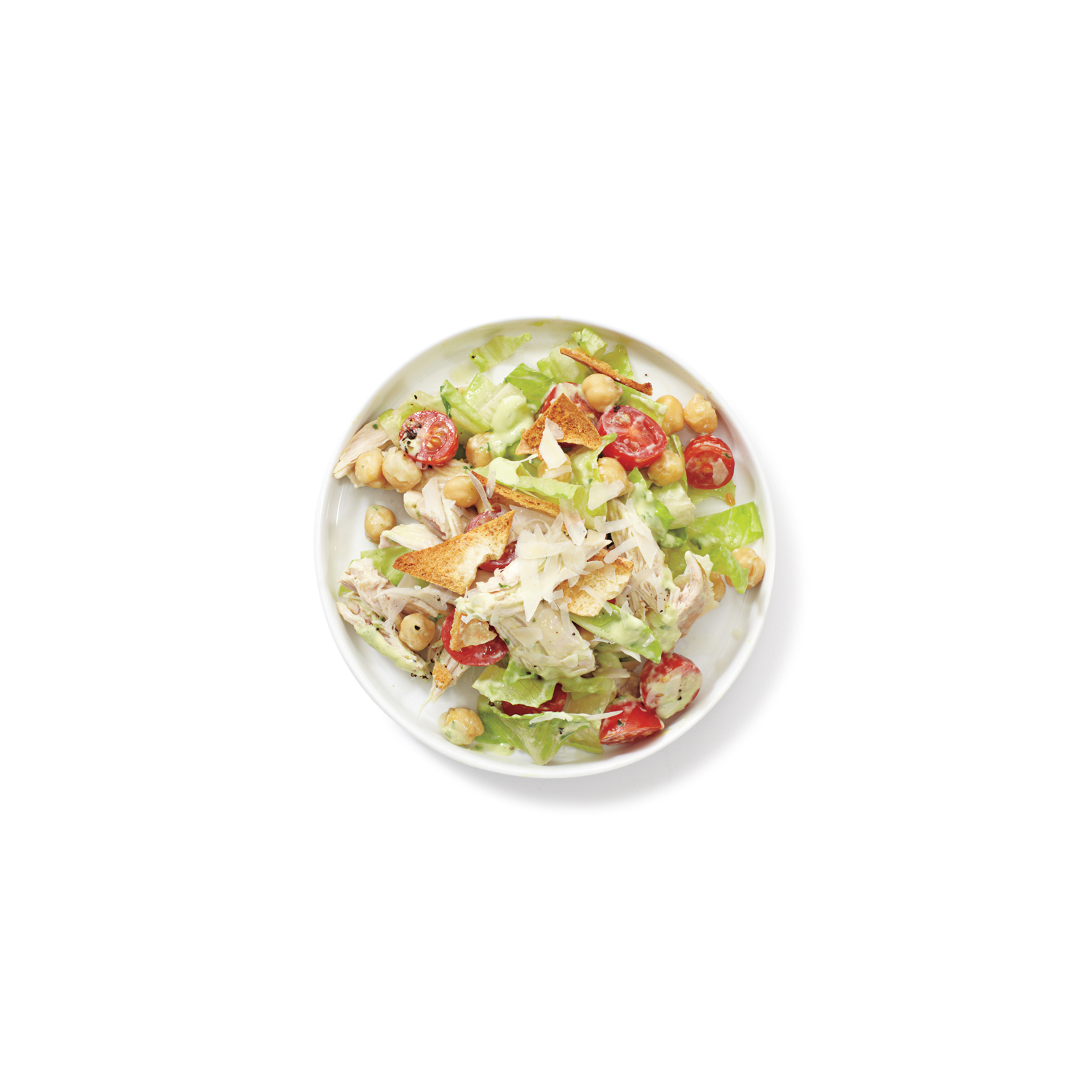 Chopped Salad With Avocado Dressing