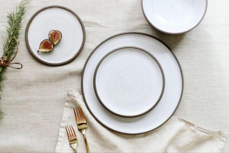 Beautiful white dining plates on table for Table Setting Ideas