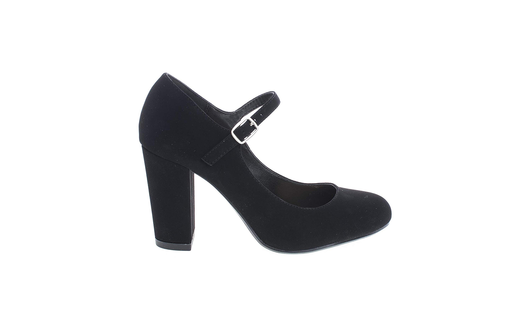 City Classified Closed Toe Ankle Strap Block Heel