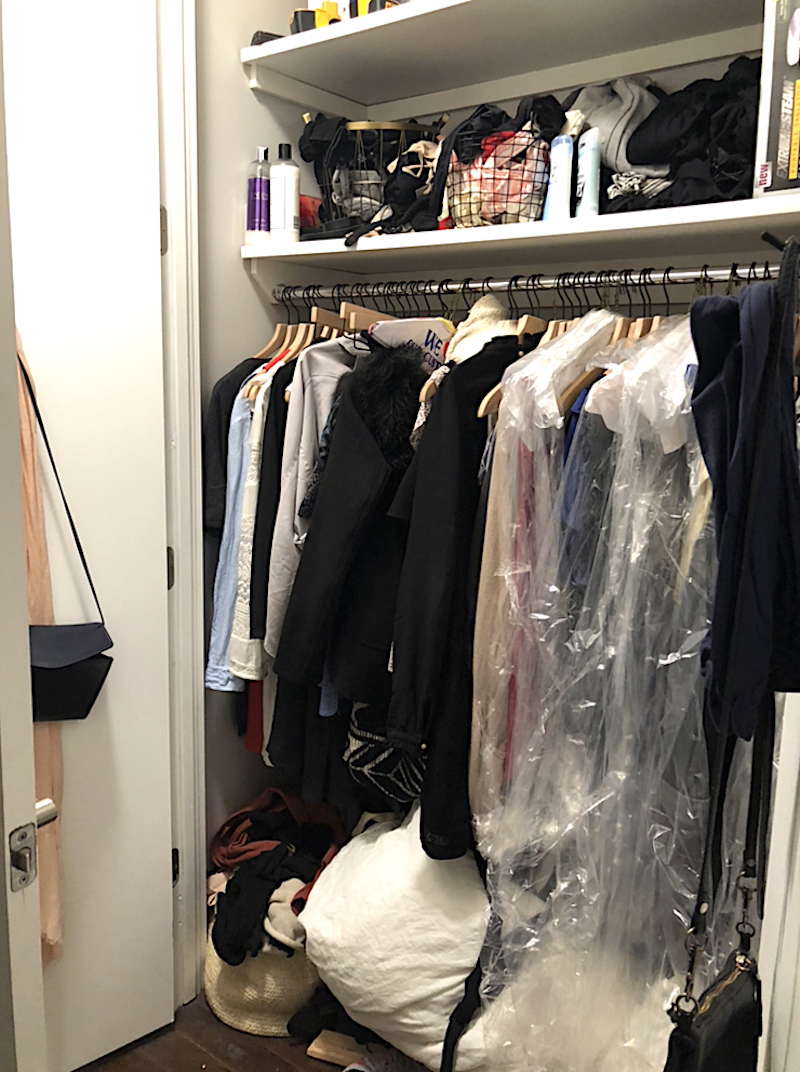 How I Organized My Chaotic Closet for $56 and One Trip to The Container Store