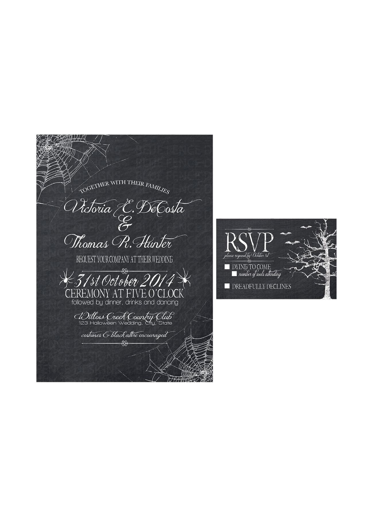 Halloween wedding invitations your guests will love real simple 3 filmwisefo