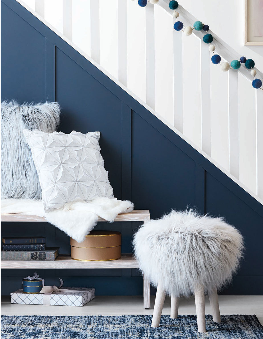 Blue and White Holiday Decor