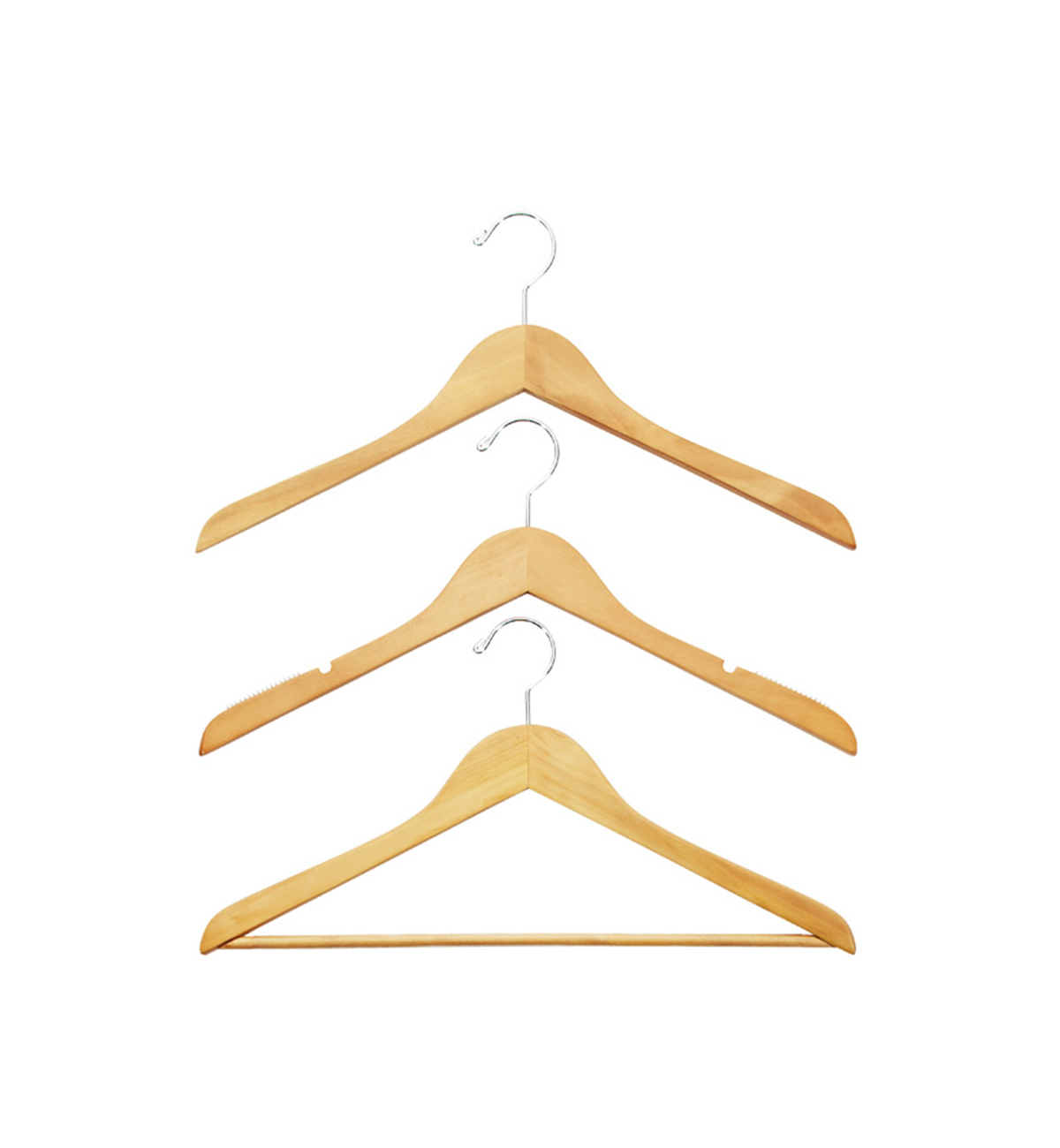 Container Store Wooden Hangers