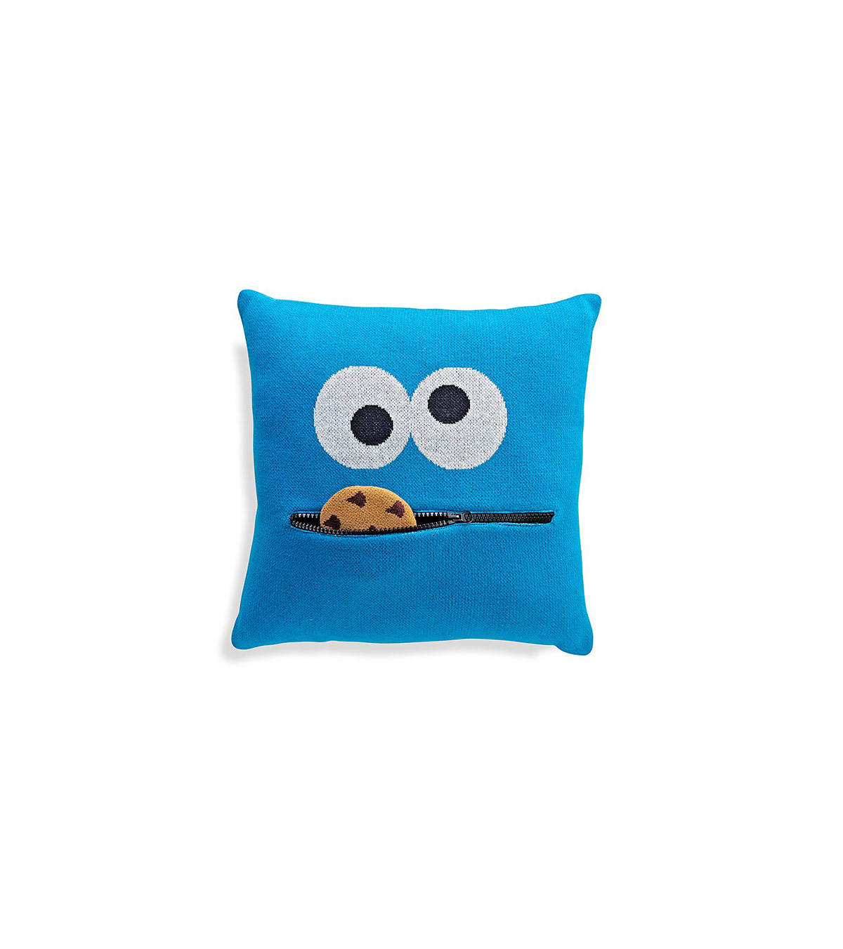 Sesame Street Cookie Monster Knit Throw Pillow