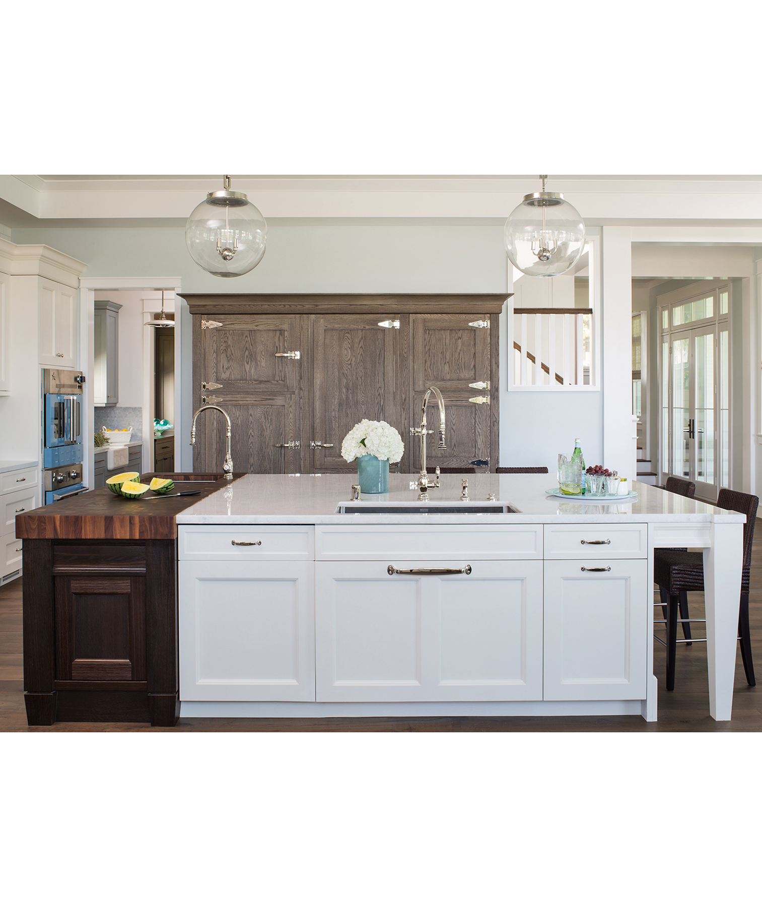 Double Sink Kitchen Island