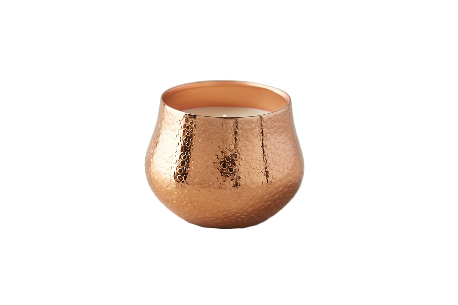 Capri Blue Textured Copper Candle