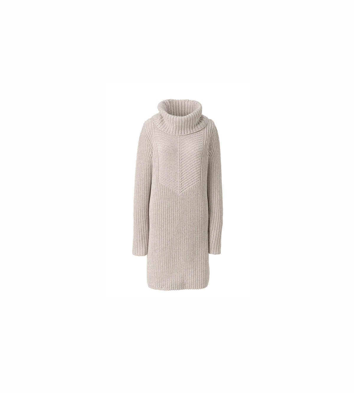 Merino Blend Shaker Cowl Neck Sweater Dress