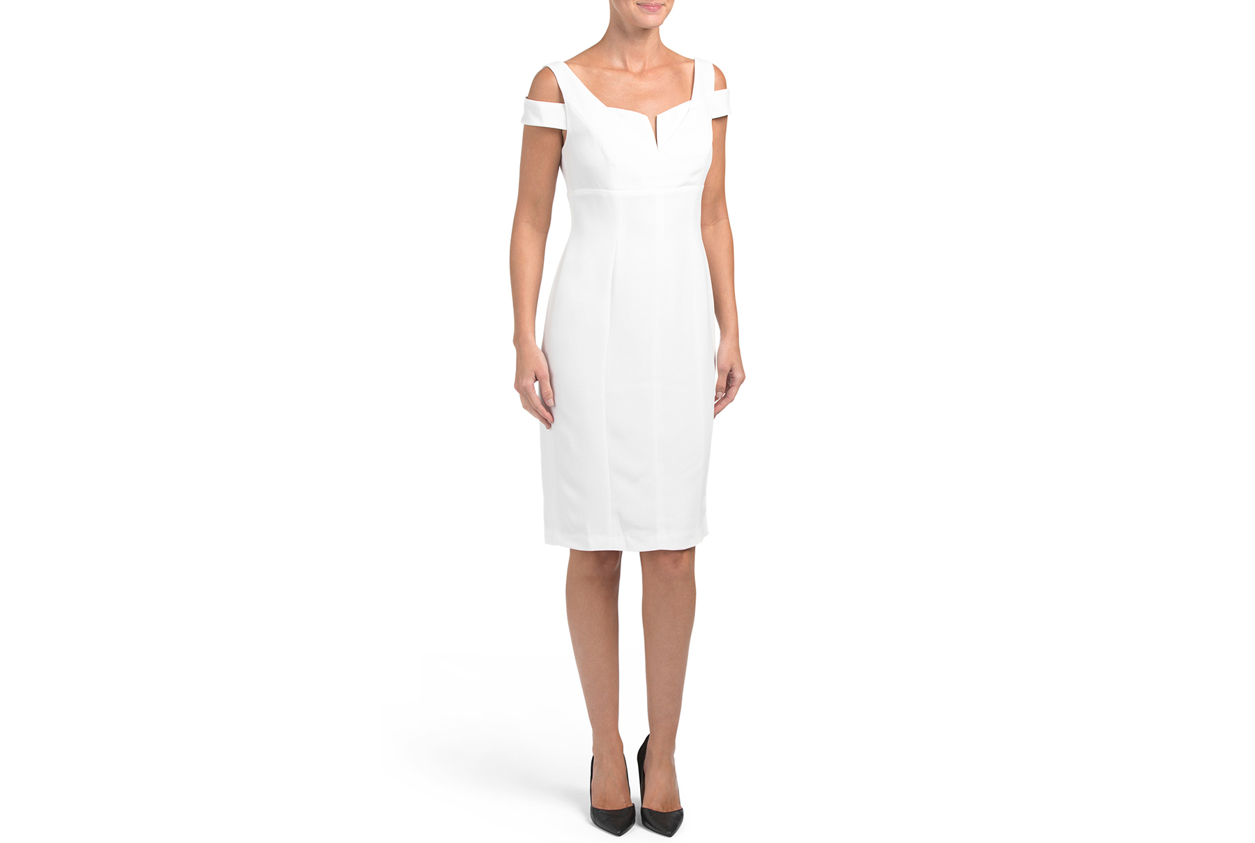 Adrianna Papell Solid Crepe Empire Dress