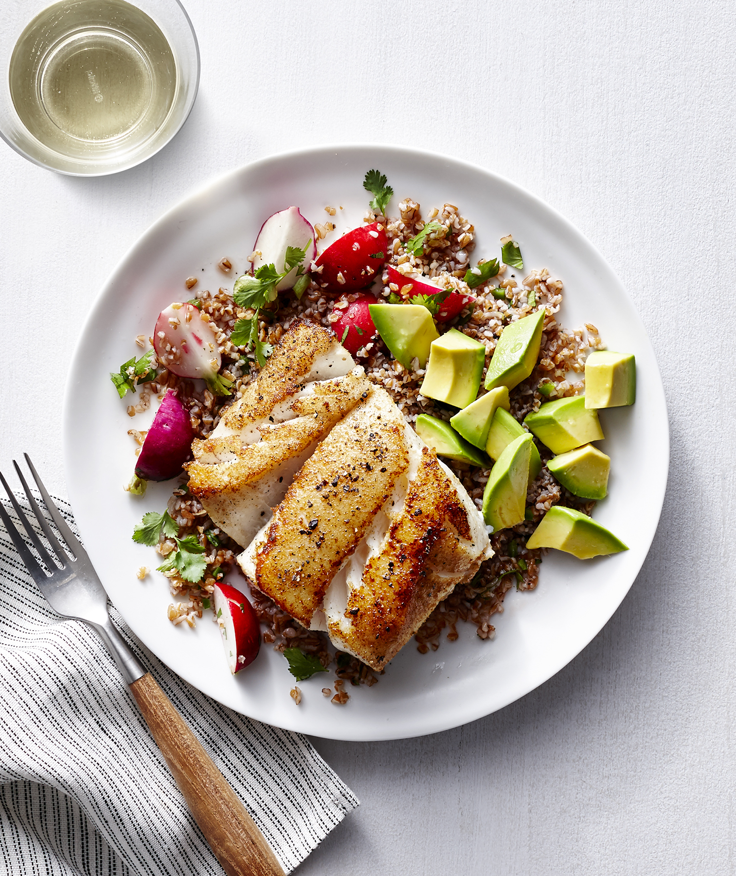 Cumin-Crusted Cod With Bulgur Pilaf