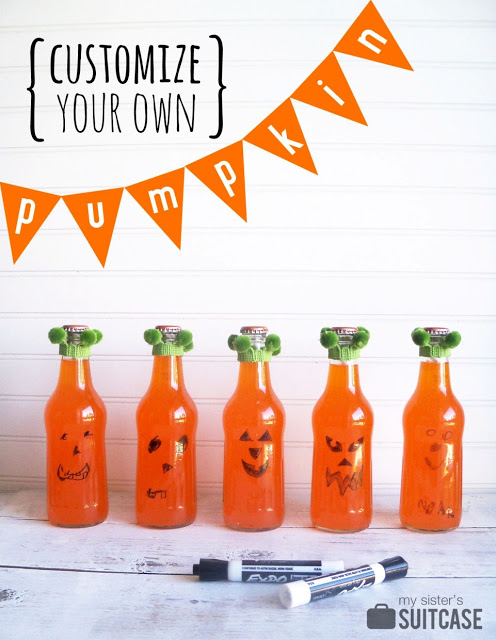 Make-a-Face Pumpkin Halloween Party Favors