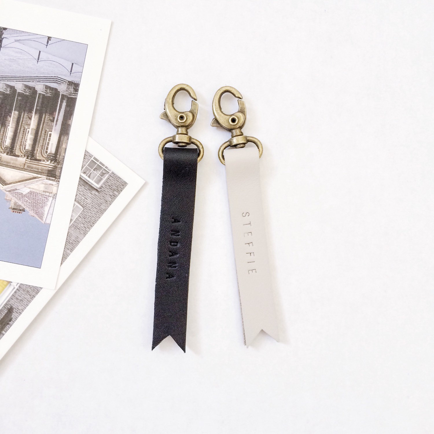Etsy Personalized Leather Keychains