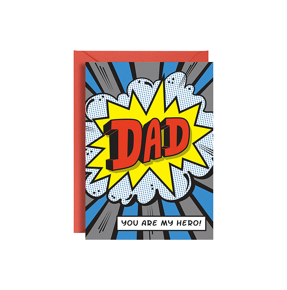 Dad Comic Hero Father's Day Card