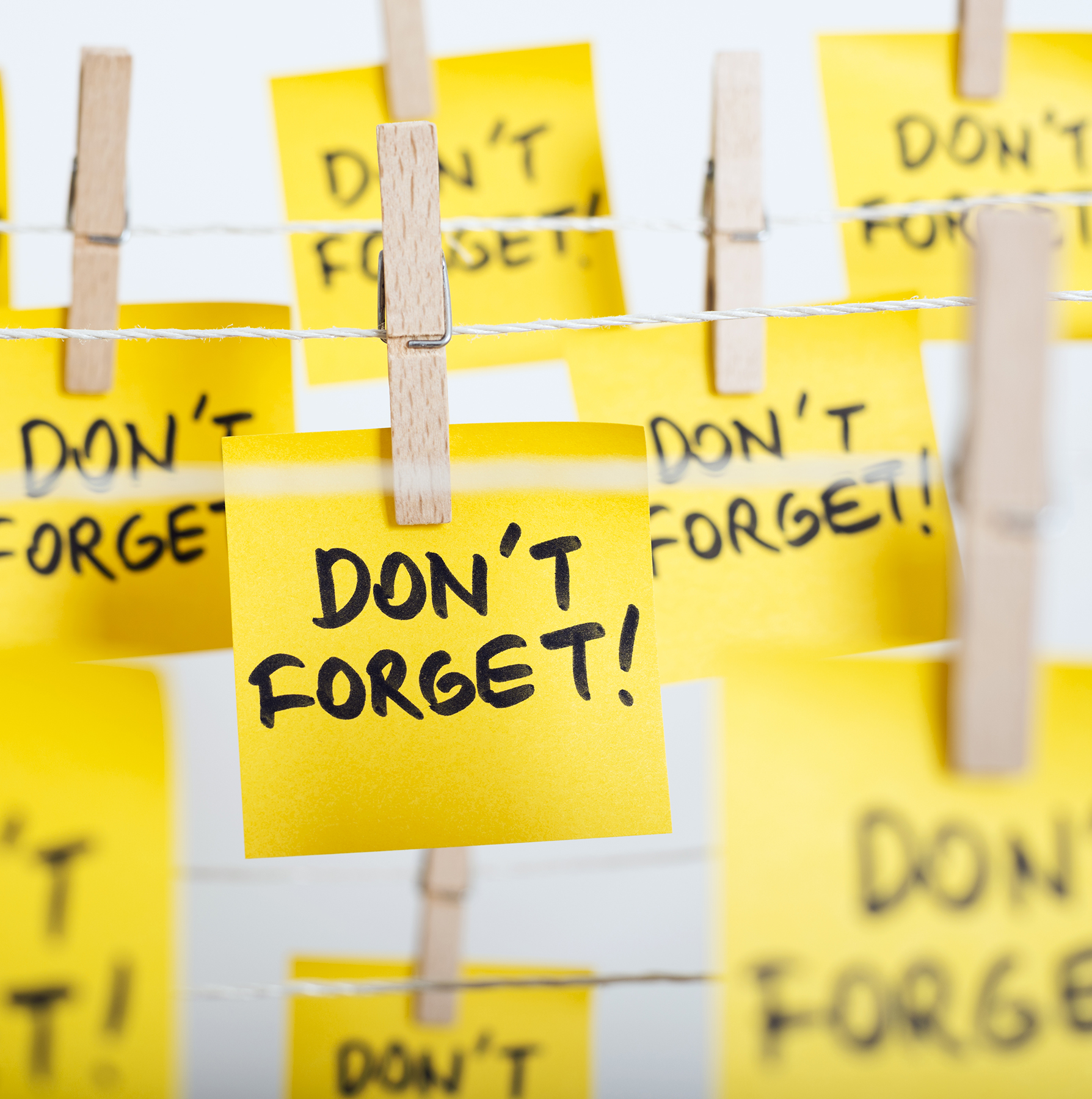 Don't Forget Post-Its