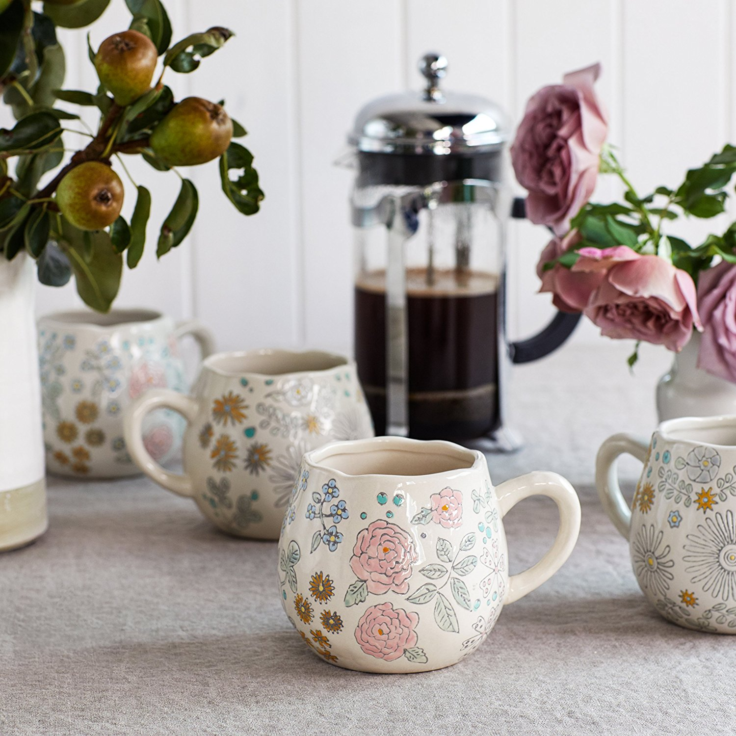 Dorothea Floral Coffee Mugs