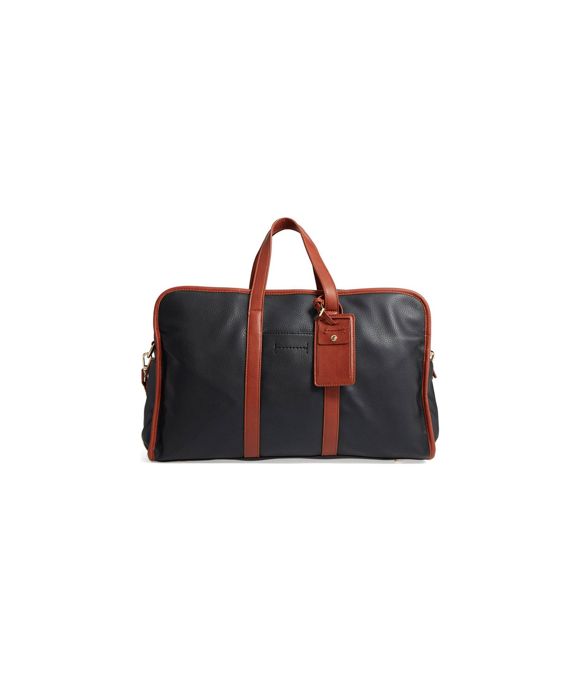 Doxin Faux Leather Duffel Bag