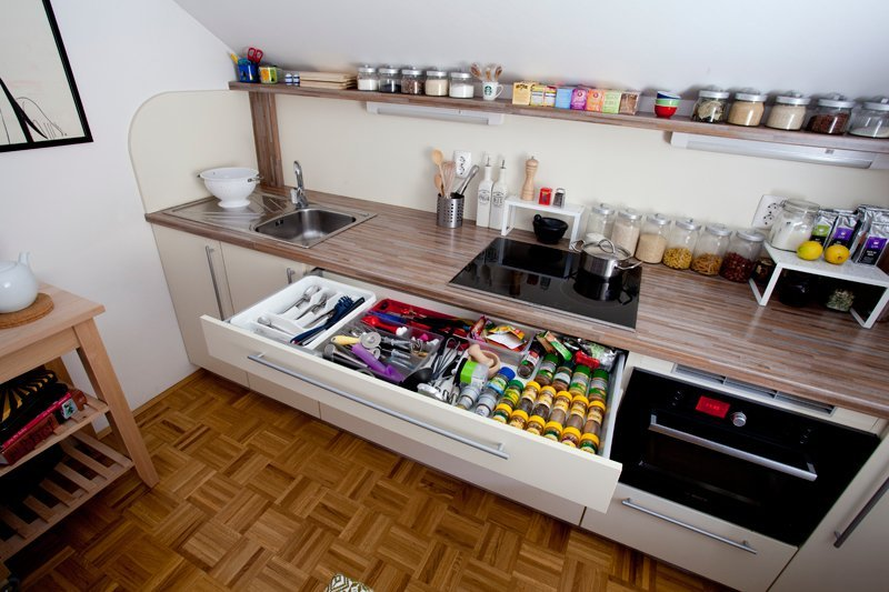 8 Ways To Create Extra Counter Space In A Tiny Kitchen Real Simple