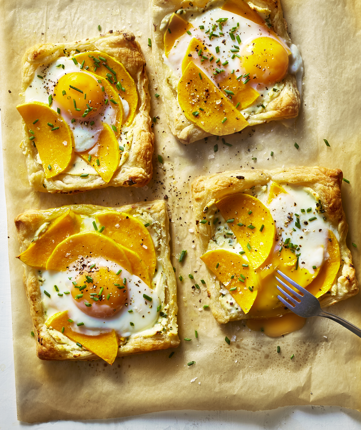 Baked Egg Tartlets With Butternut Squash and Ricotta