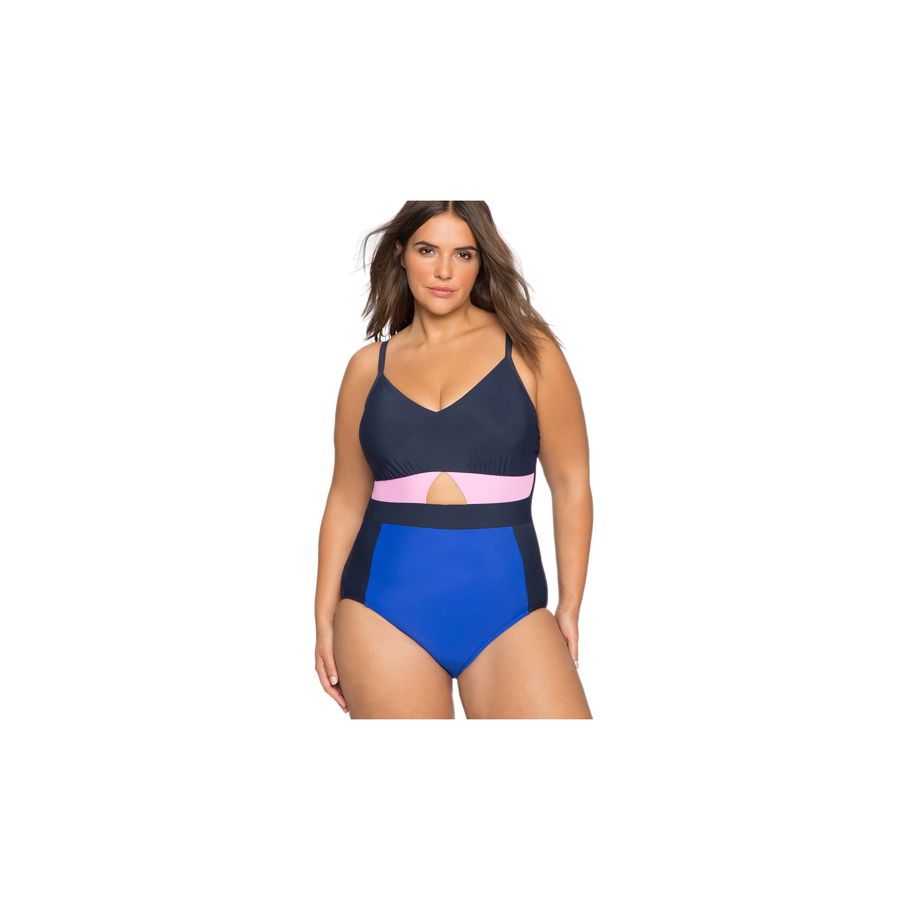 Color Blocked One-Piece Swimsuit