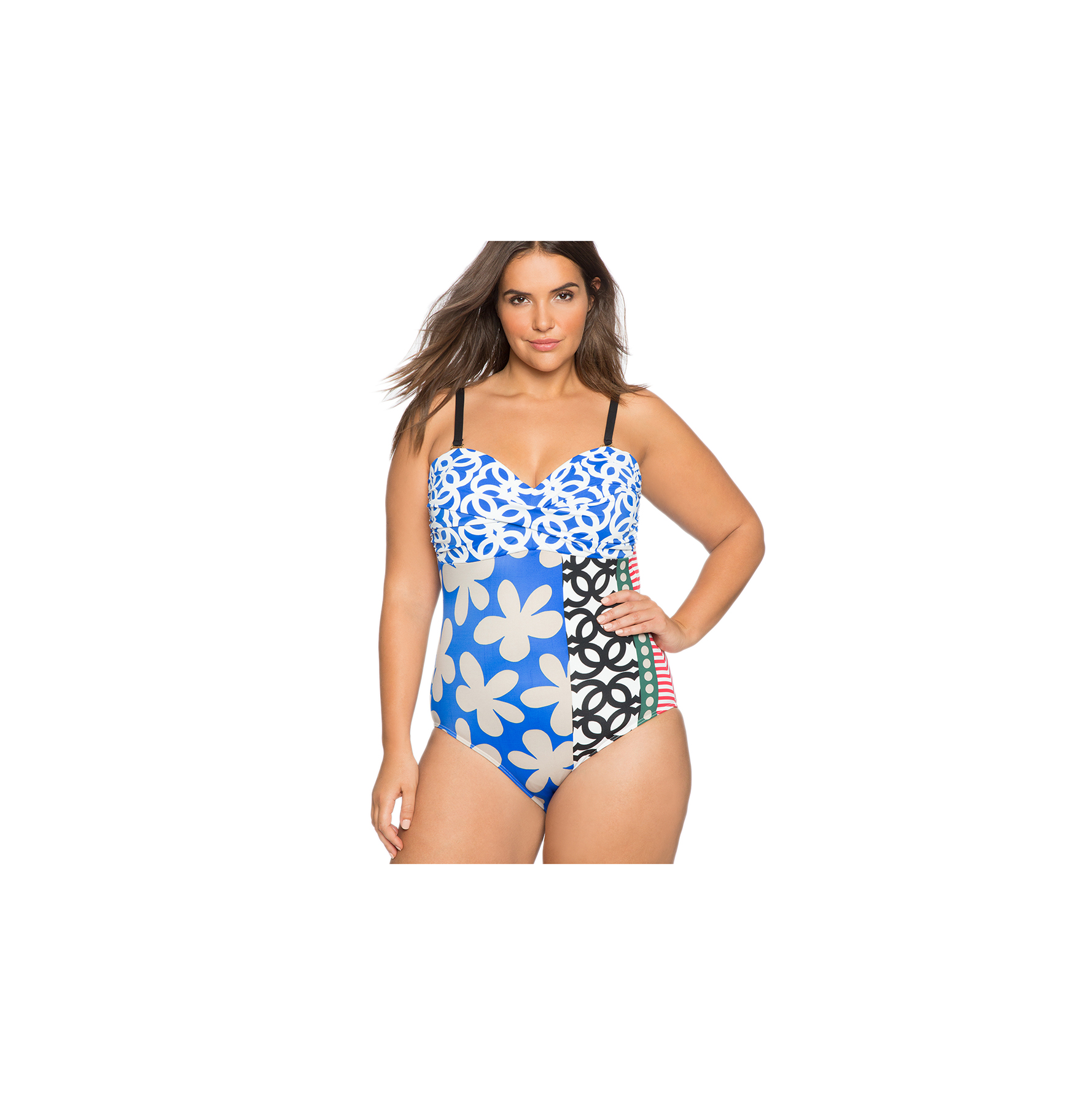 Twist Front One-Piece Swimsuit