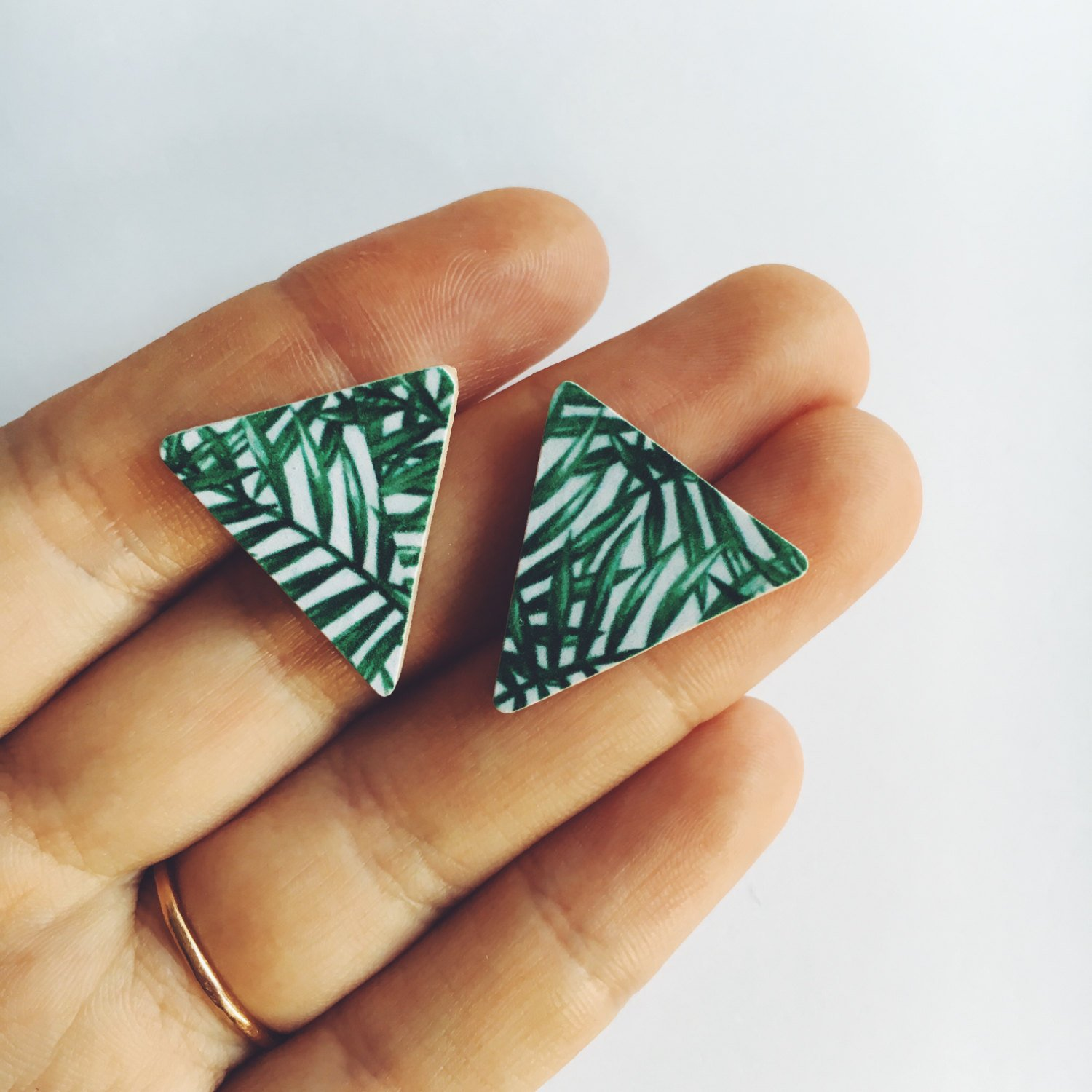 Etsy Birthday Sale Palm Print Earrings