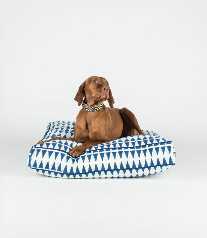 Blue and Mint Triangle dog bed