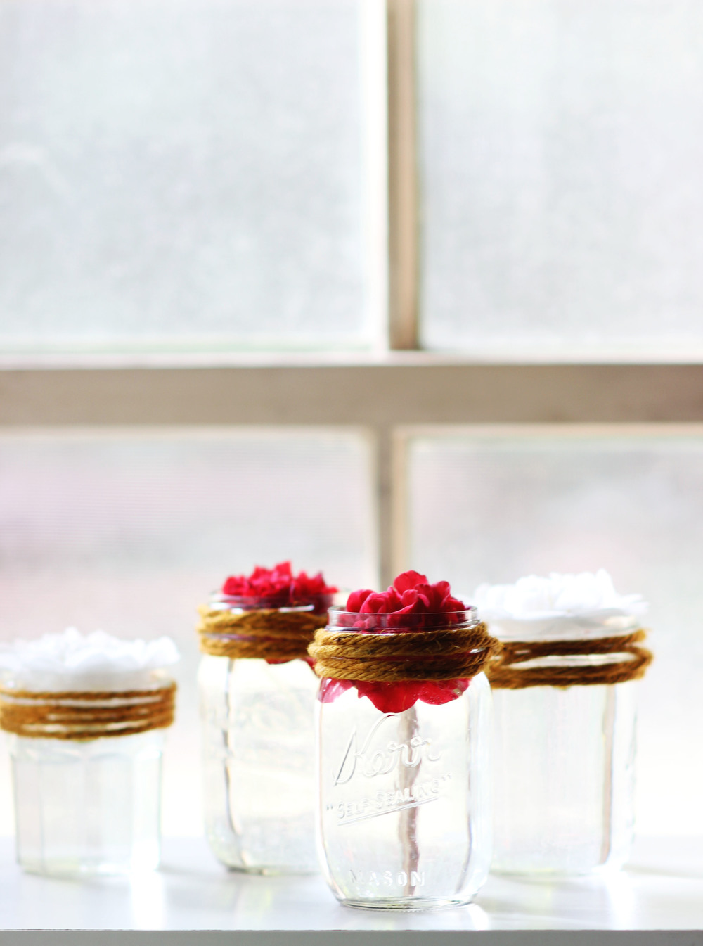 Floating Flower Mason Jars