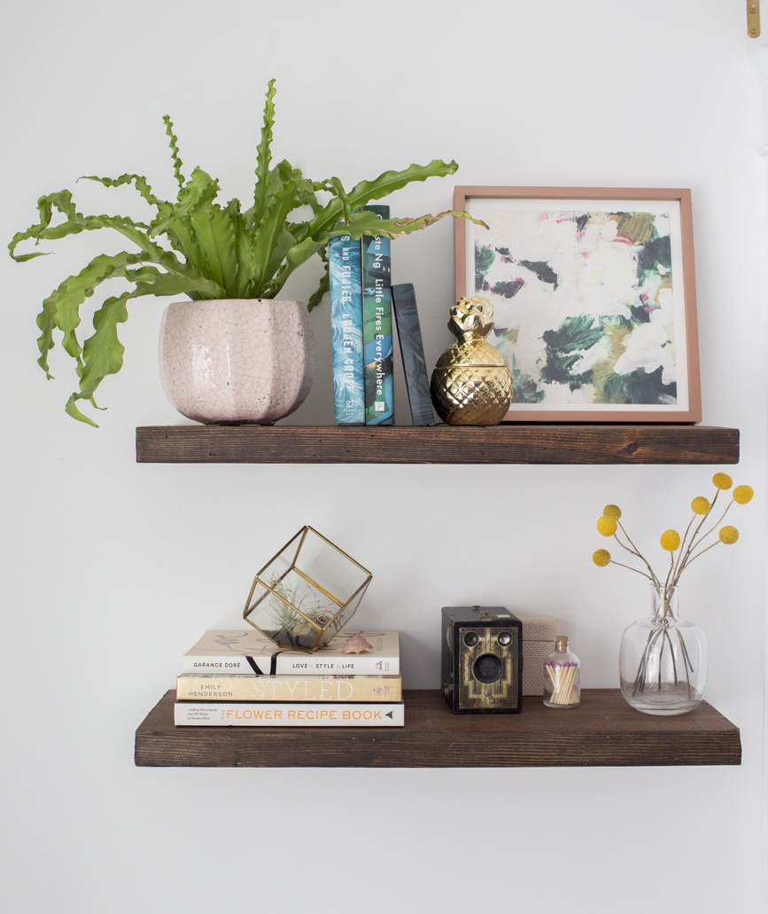 Diy Floating Shelves How To Build Floating Shelves Real Simple