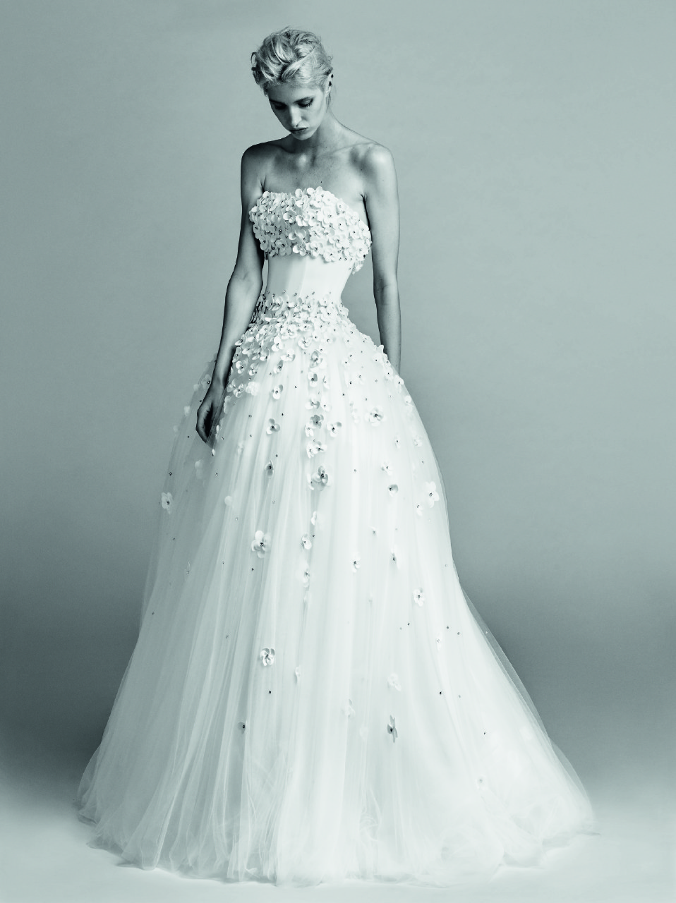 Floral Appliques on Viktor & Rolf wedding gown