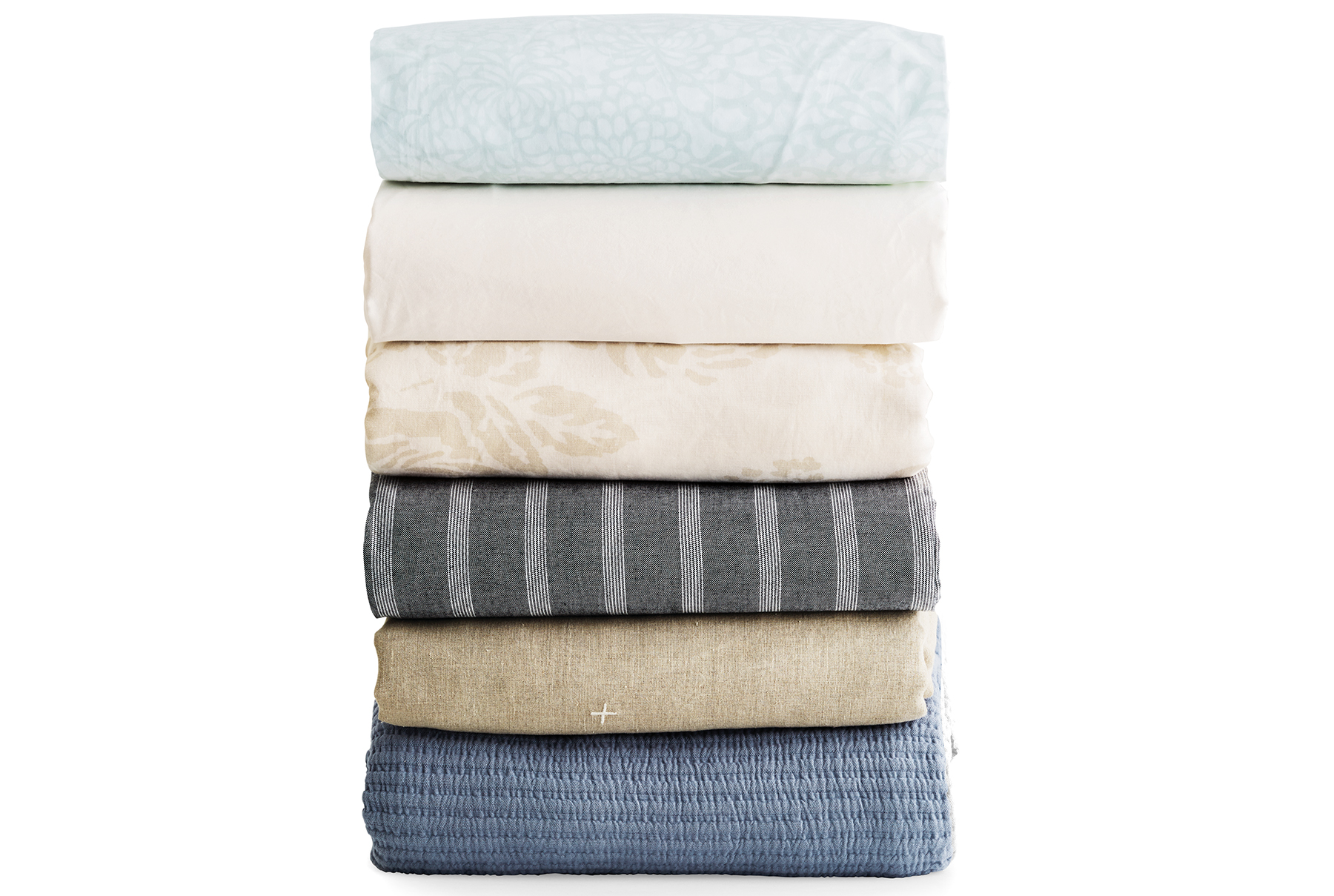 Stack of folded bedding