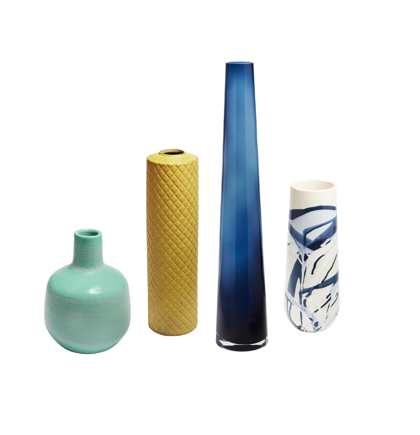 Four CB2 Vases