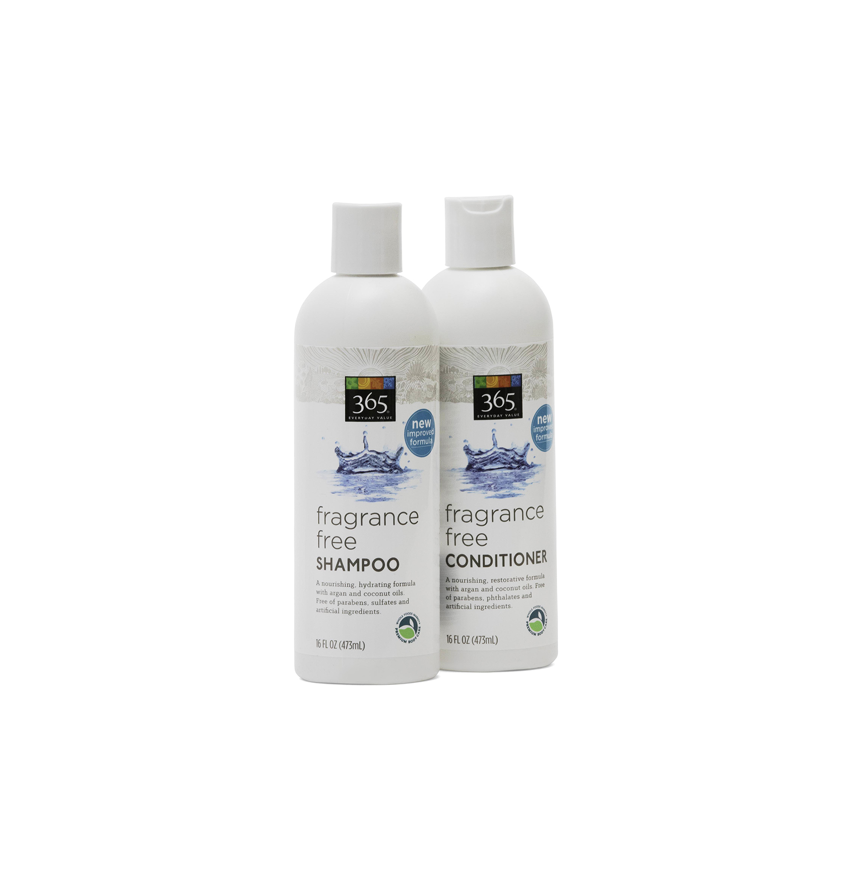 Whole Foods 365 Fragrance-Free Shampoo and Conditioner