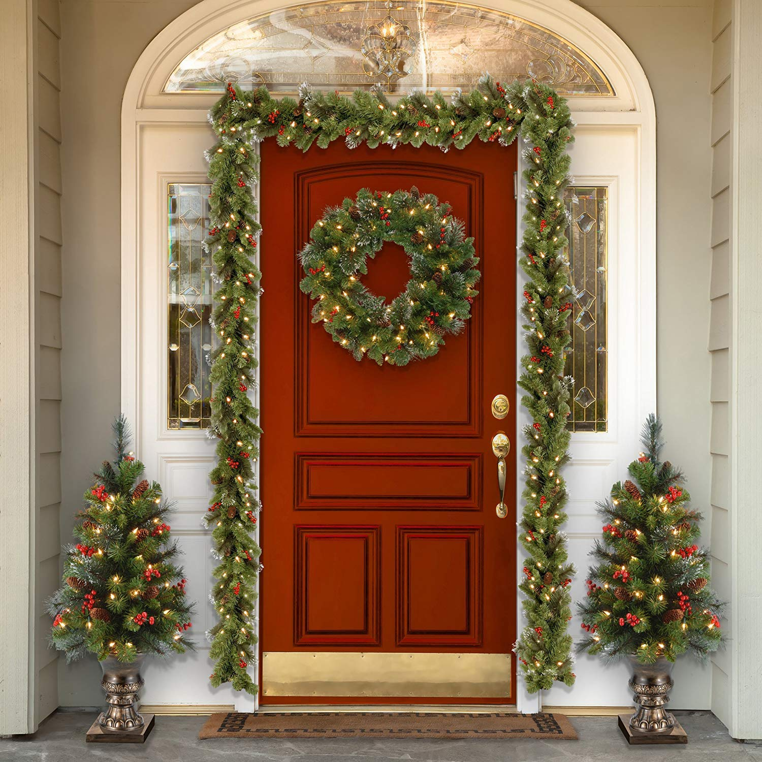 5 Ways to Make Your Front Door Look Festive for Less Than ...