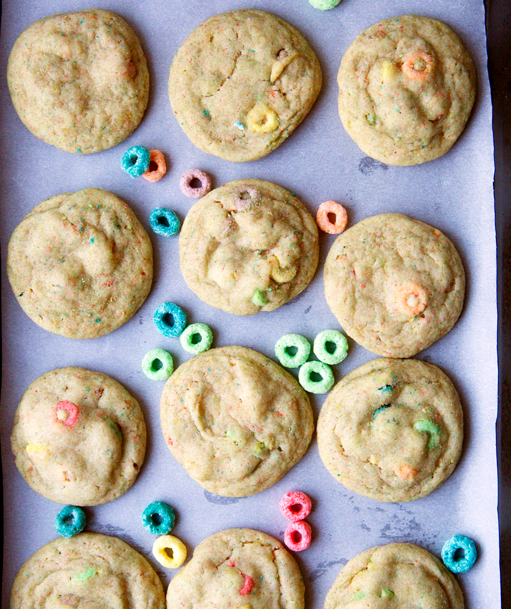Soft-Baked Froot Loops Sugar Cookies
