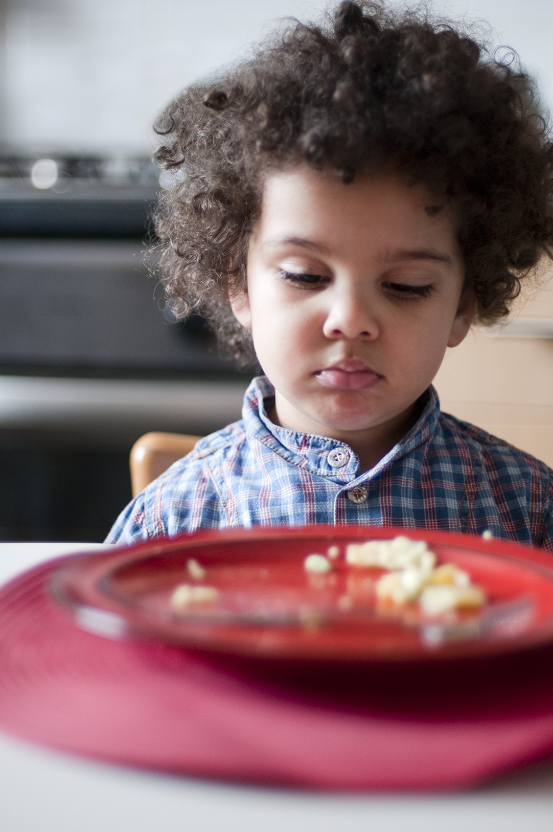 Unhappy Child at Meal Time