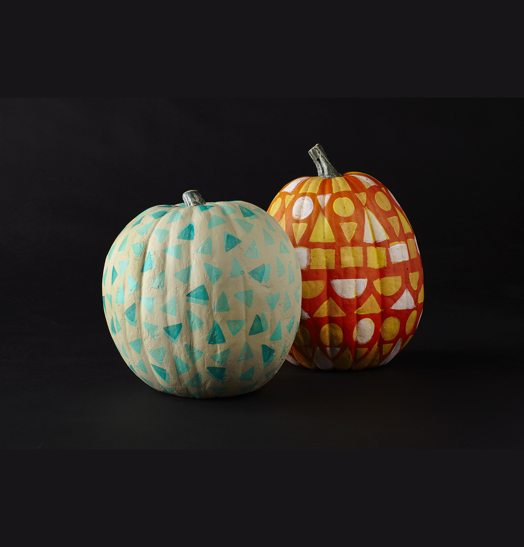 geometric-makeup-sponge-pumpkins