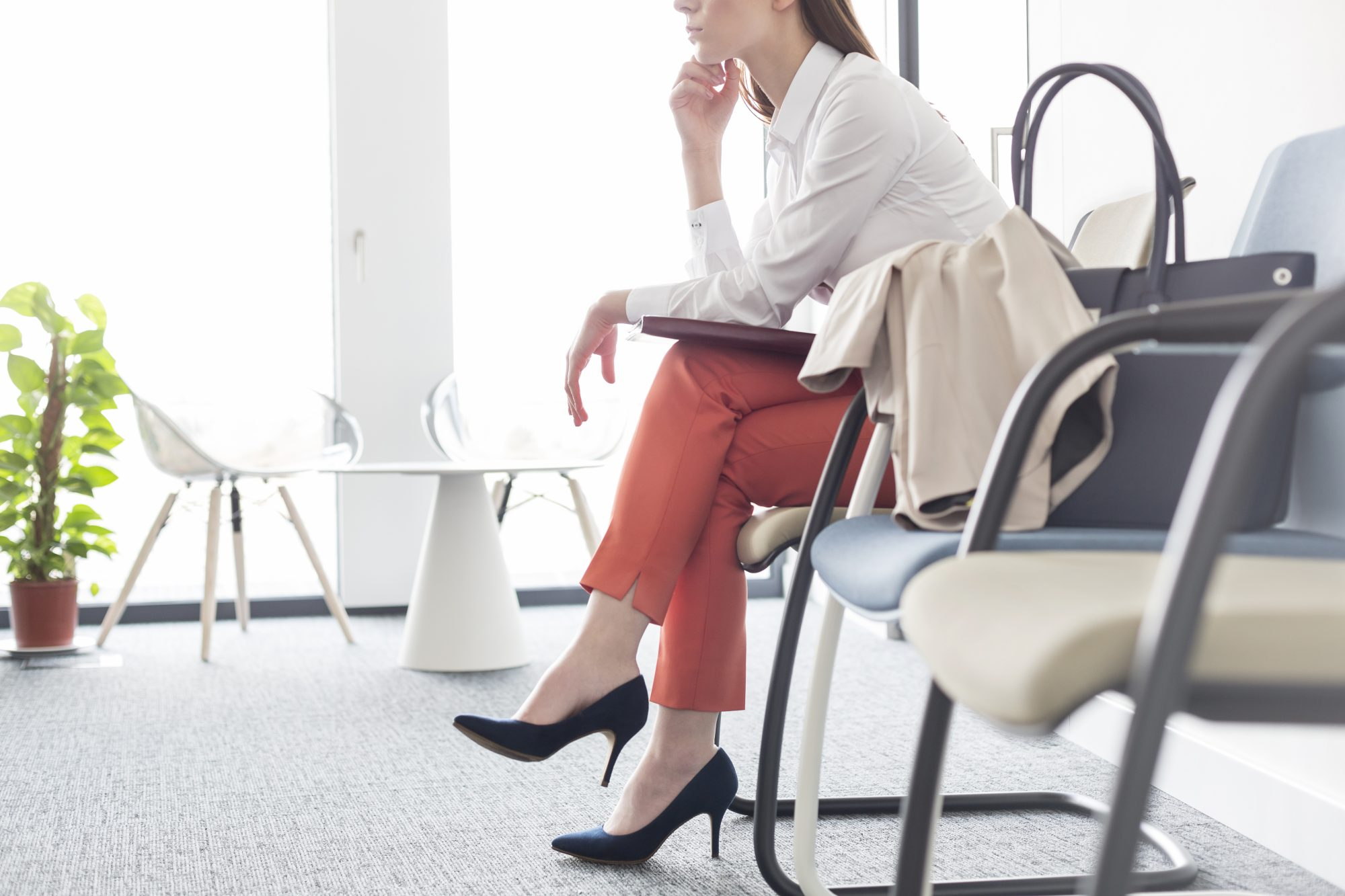 Businesswoman waiting in lobby