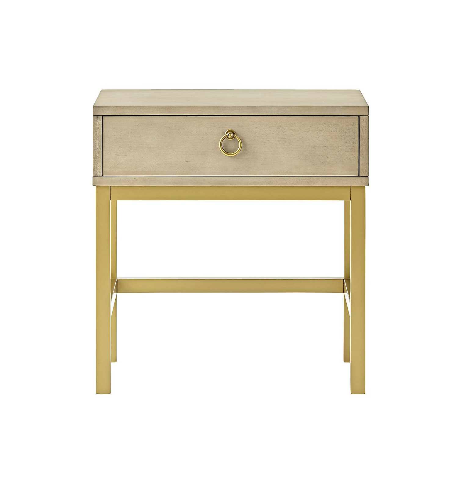 Grey and Gold Nightstand
