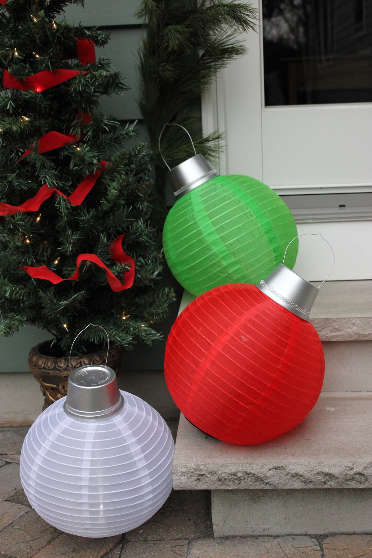 Giant Ornaments Display