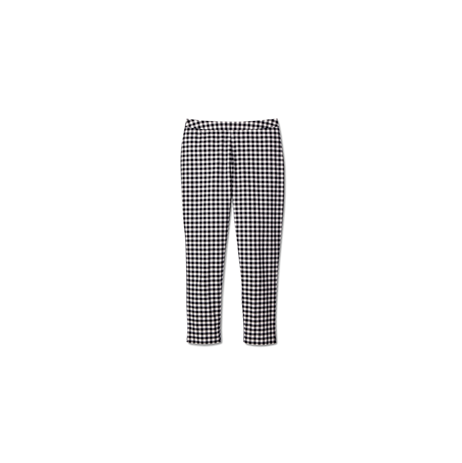 Blue and White Gingham Twill Pants